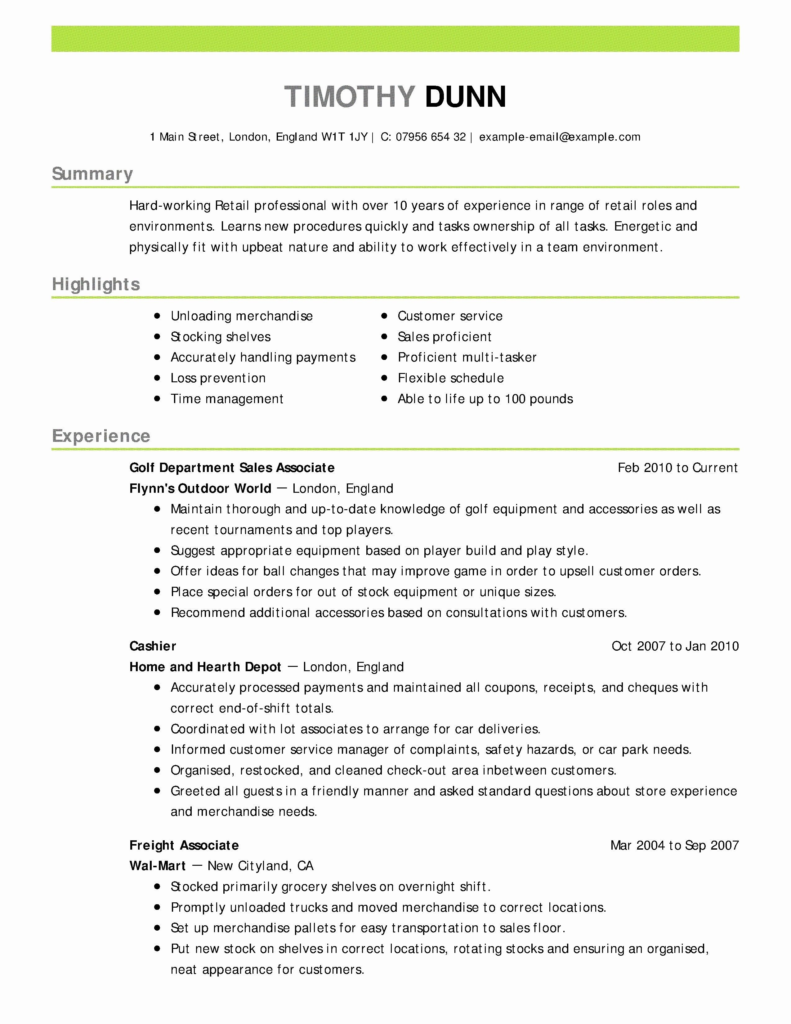 A Good Resume Example 2019 75