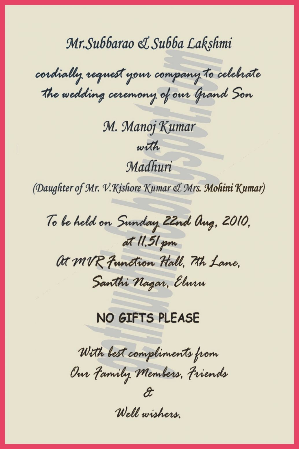 9 Marriage Card English Format 2020