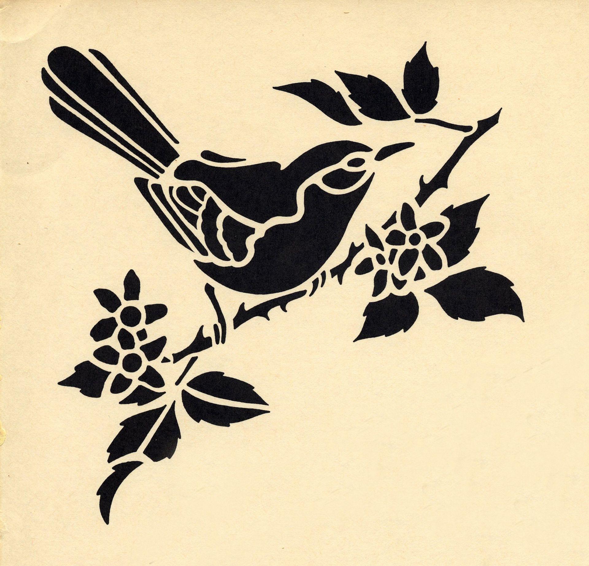 Galerie des pochoirs oiseaux - Loisirs Creatifs de F1ADC | Pochoir oiseau, Pochoir, Art du pochoir