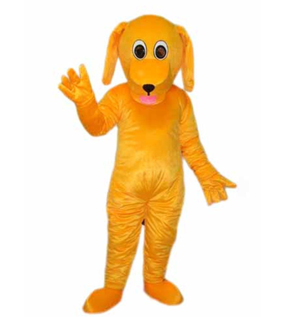 Mascotshows Yellow Dog Mascot Costume Halloween Party Dress