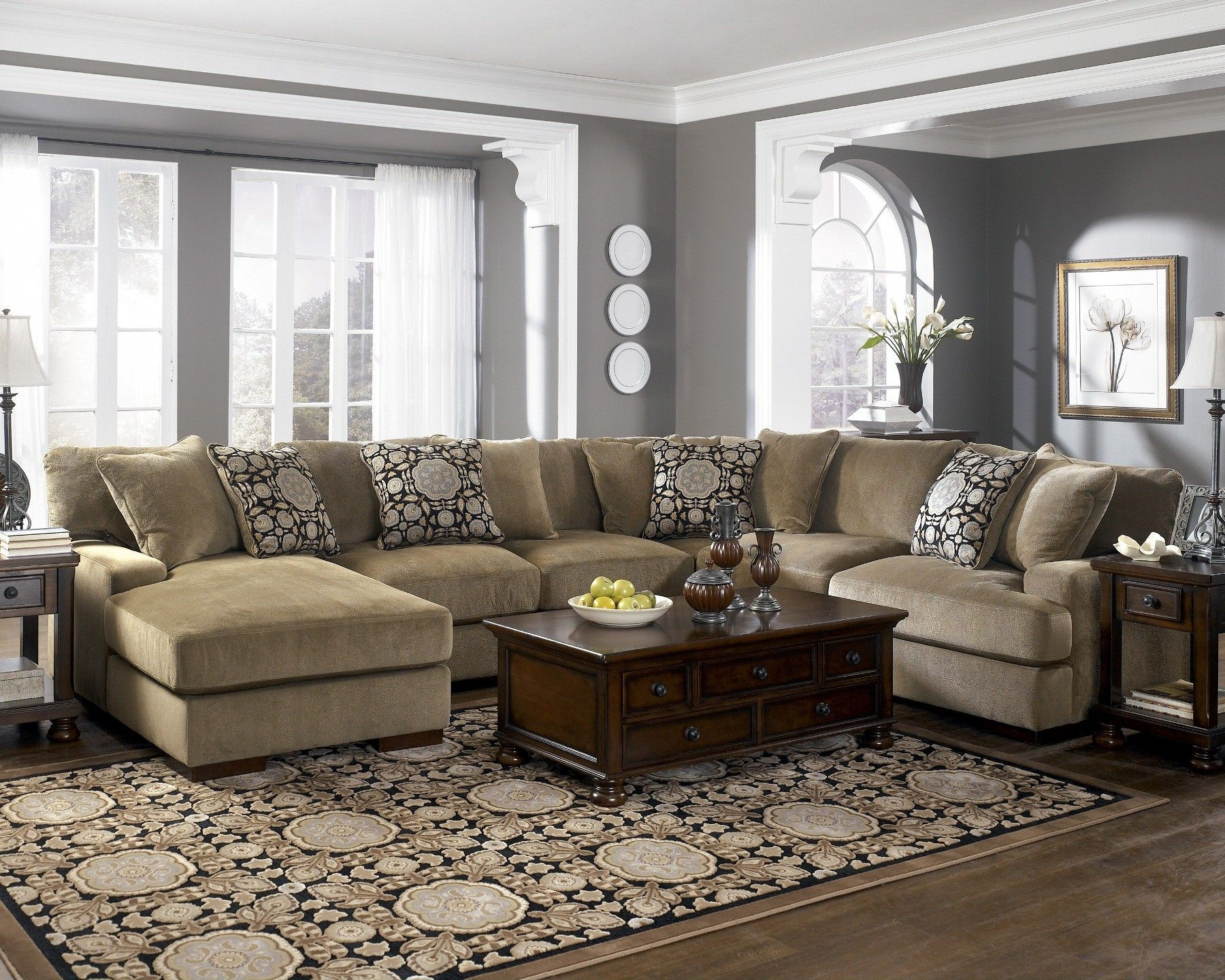 Grenada   Mocha Large Sectional Living Room Set | Sectional Living Room  Sets, Large Sectional And Sectional Living Rooms