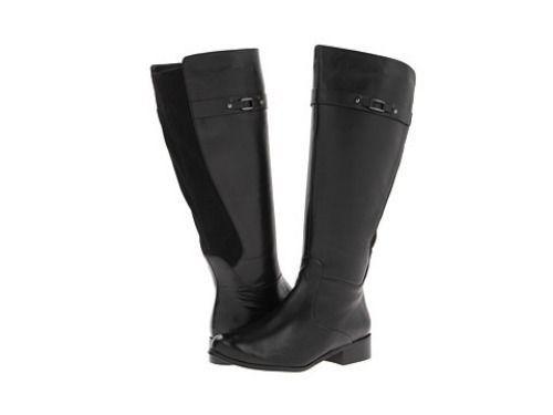 Womens Boots Vaneli Ramex Boot (Wide Shaft) Black Nappa/Black Super Star Suede