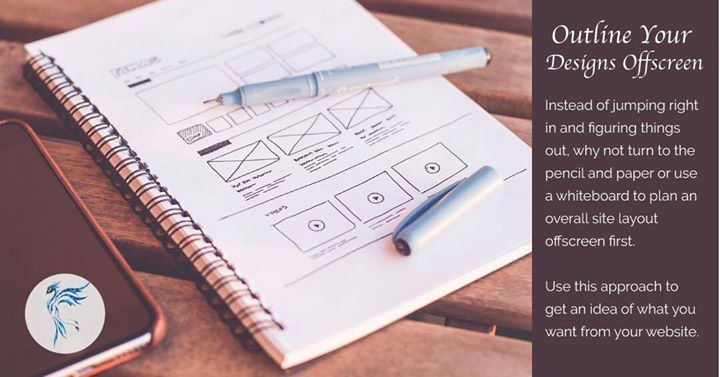 #WebsiteDesignTip Outline your design ideas offscreen that way you will save a lot of time. Please like the post and visit our site @ graphynix.com.au for any design services you need.  view on Instagram http://ift.tt/2w5bBp1