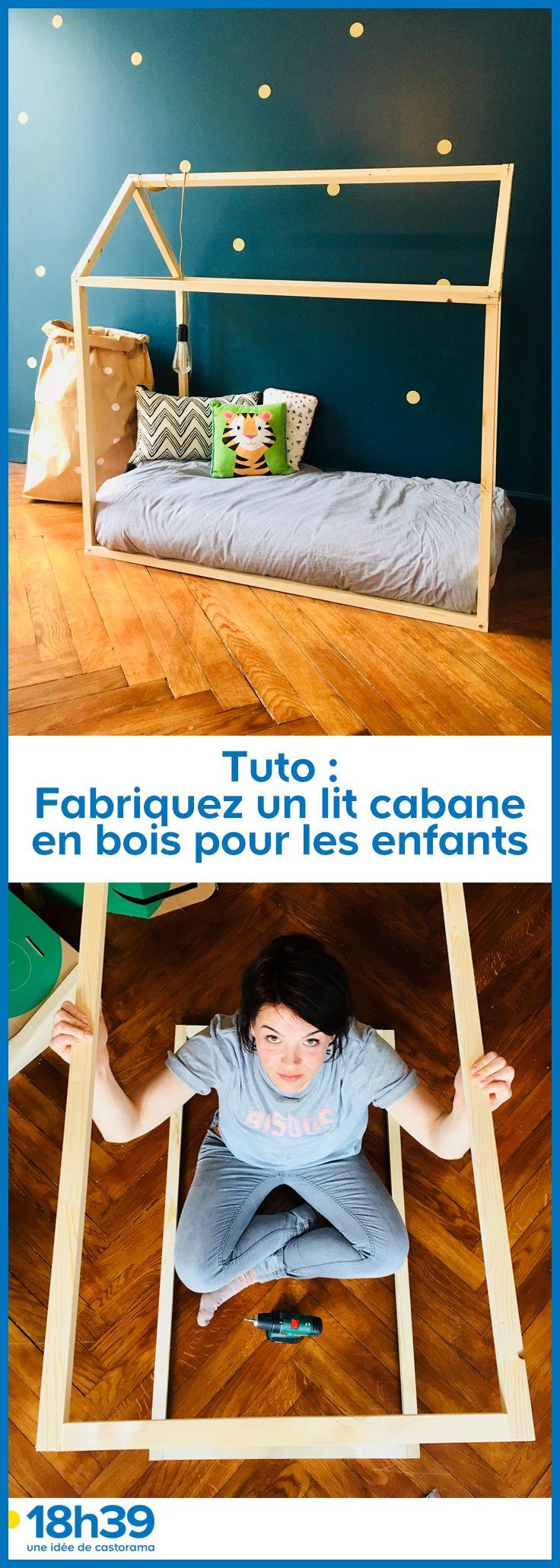 Tuto Fabriquez Un Lit Cabane En Bois Pour Les Enfants Lit Cabane Lit Enfant Maison Lit Enfant Cabane