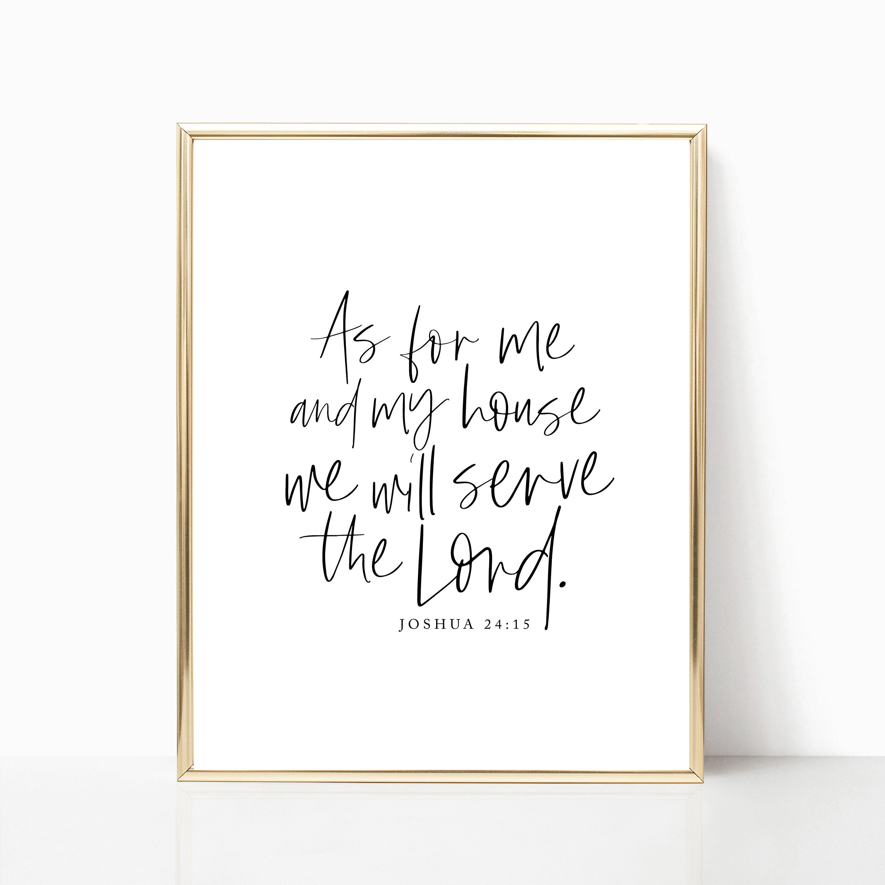 As For Me And My House We Will Serve The Lord Printable Etsy Bible Verse Wall Art Bible Verse Wall Inspirational Wall Art Printables