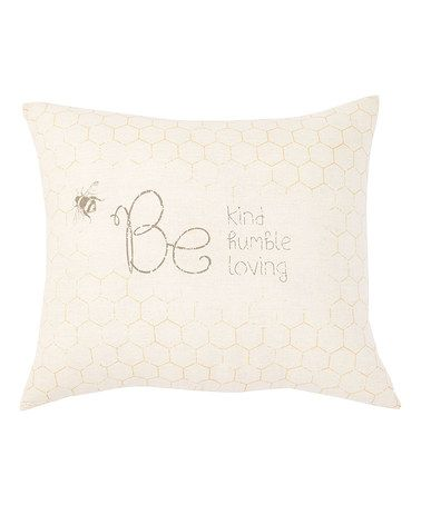 Look what I found on #zulily! 'Be Nice' Honeycomb Square Pillow #zulilyfinds
