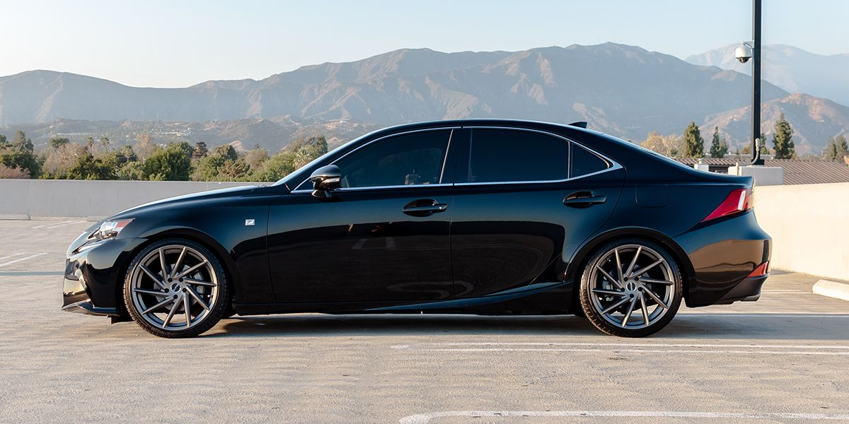 Lexus IS With RSR R701 Tugsten Grey 19x85 And 19x95 Wheels