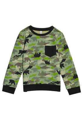 FabKids Tops & Tees Camo Crewneck Sweatshirt Boys Camo Print Size S