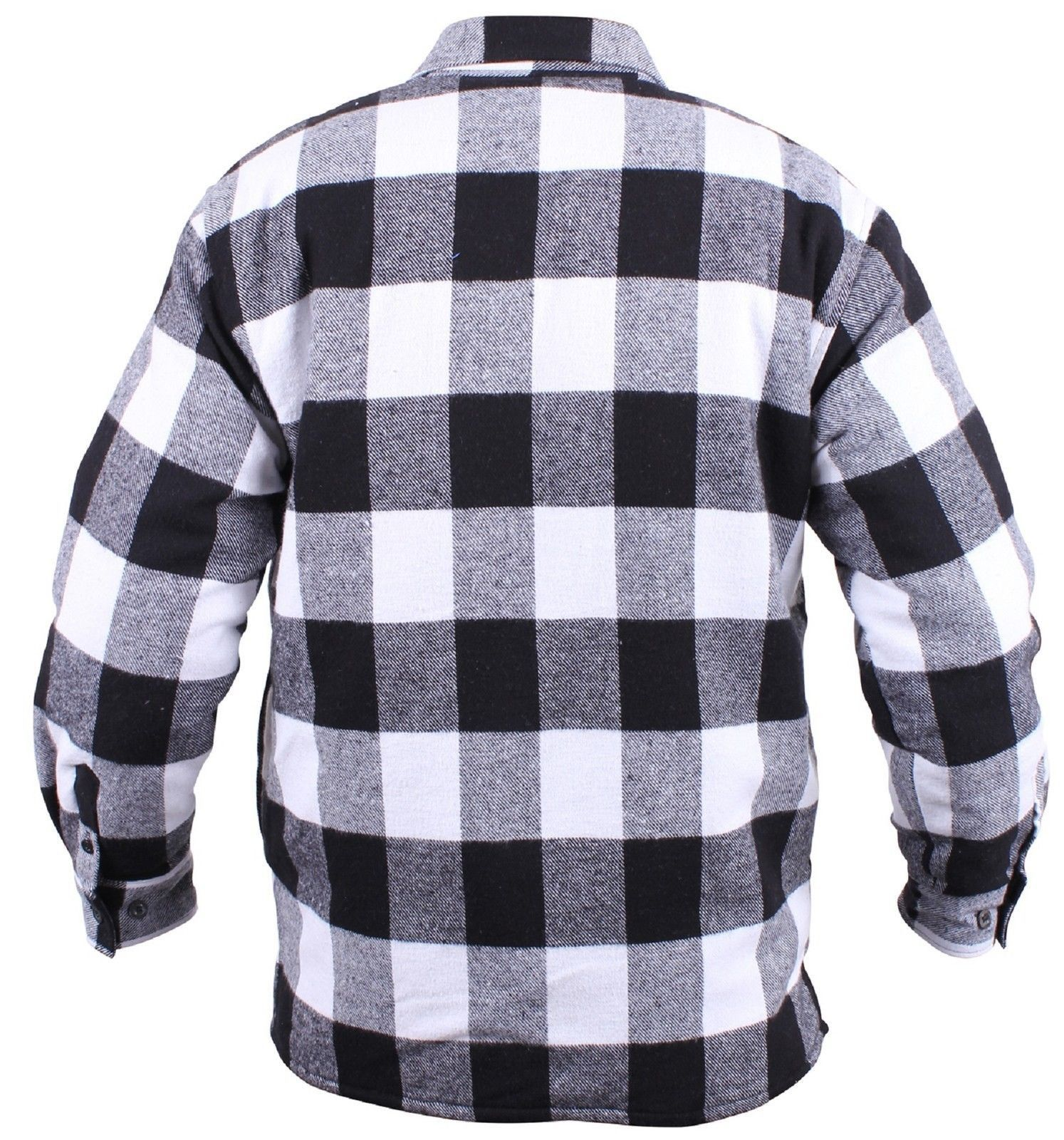 Sherpa-Lined Buffalo Plaid Flannel Shirt Pattern - Designed To Keep You  Extra Warm and Comfortable All Day Long - Quilted Taffeta Sleeve Lining  With ... a63e4245bf3