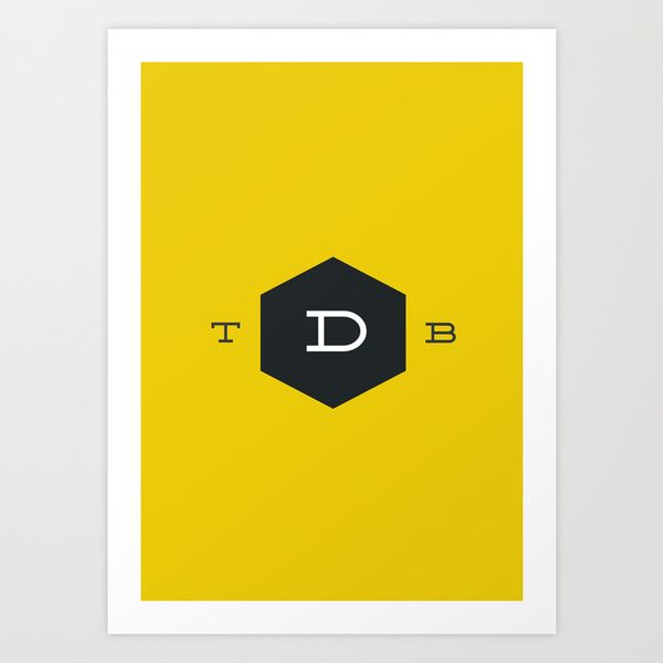 Official TDB logo Art Print by The Design Blog | Society6
