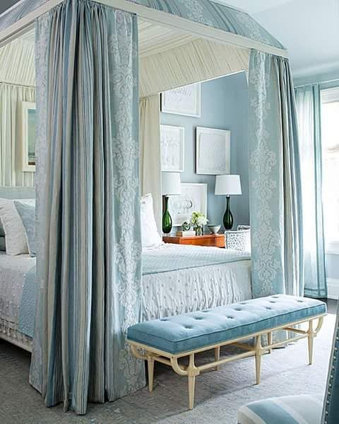 outstanding beautiful blue bedroom interior design   Love this master bedroom in the most beautiful shades of ...