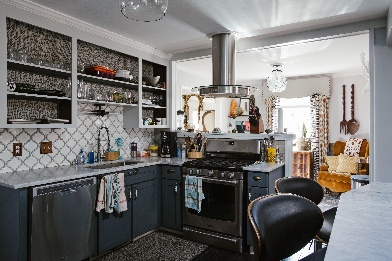 A Designer And Her Handyman Husband S Vintage Eclectic Diy Home Kitchen Cabinet Organization Kitchen Cabinets Storage Organizers Kitchen Cabinet Storage