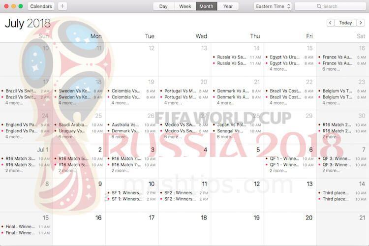 Get Fifa World Cup 2018 Schedule Calendar On Android Iphone Pc Mashtips Schedule Calendar Fifa World Cup Calendar