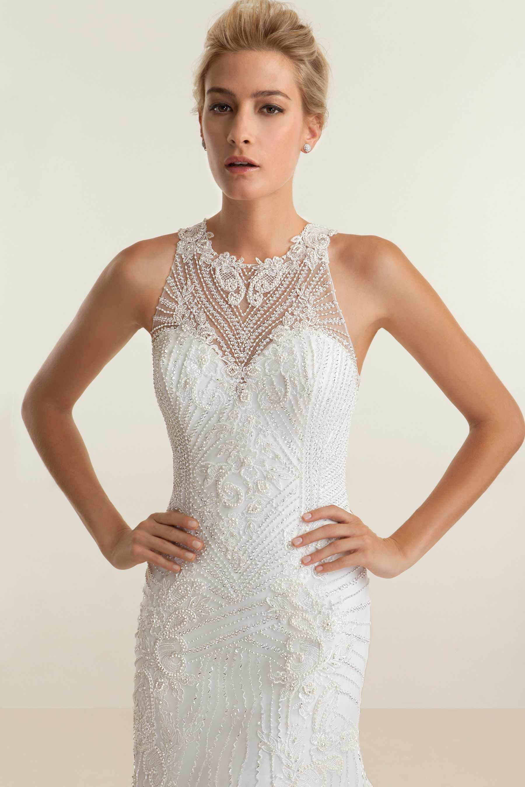 Platinum edition wedding dresses  Elegant Beaded Neckline on this Beautiful Wedding Gown from the