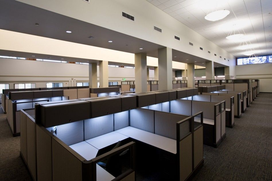 office cubicles design. Cool Office Cubicle Workstation With U Shape Desk Design And Bright Light Under\u2026 Cubicles O