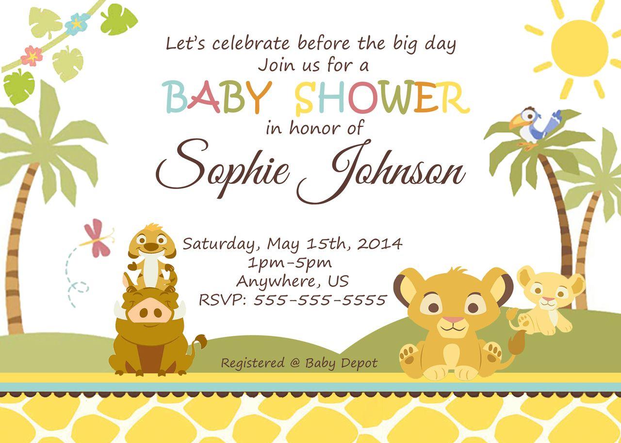 Baby Simba Lion King Shower Invitations - partyexpressinvitations ...