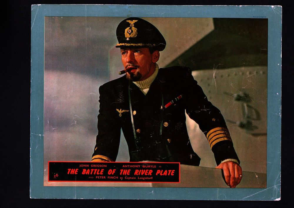 The Battle Of The River Plate Lobby Card 1956 Vg Peter Finch