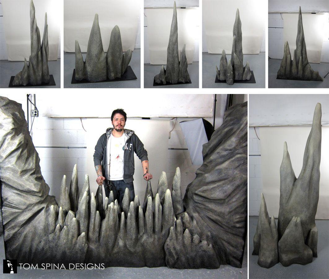 Foam cave props stalactites & stalagmites cave quest pinterest