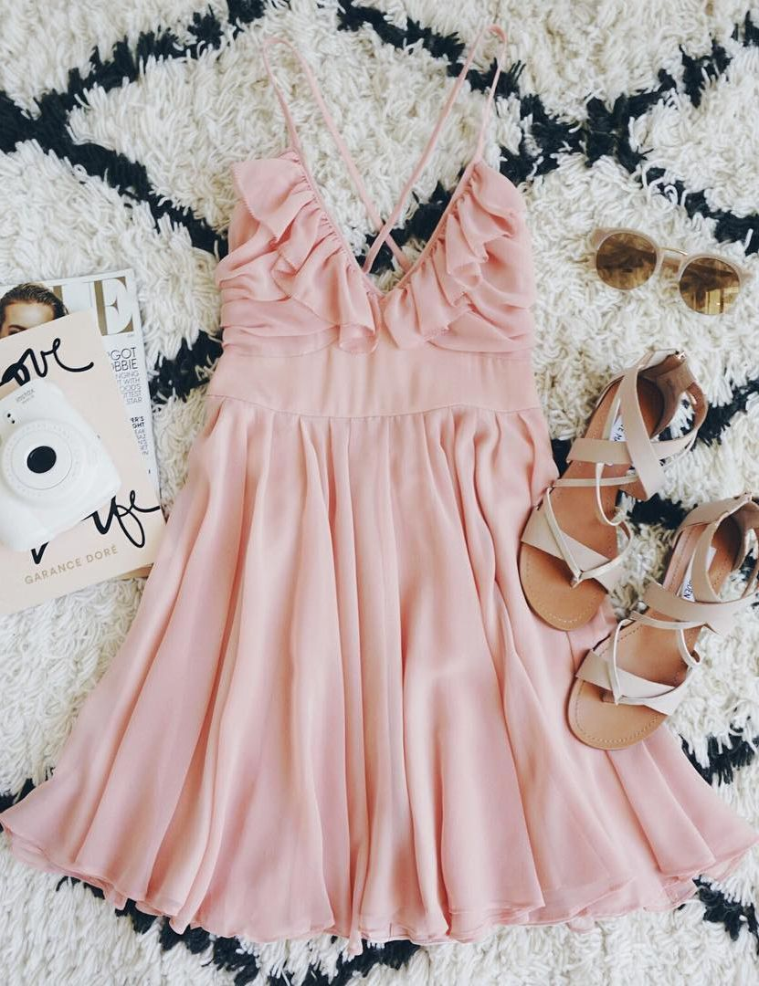 Pixie Palace Blush Pink Skater Dress | Ligeros, Vestiditos y Rosas