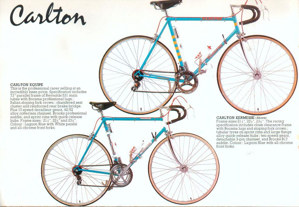 Carlton Bicycles From The 1970s Made In Worksop England Carlton Cycles Road Bike Vintage Bicycle