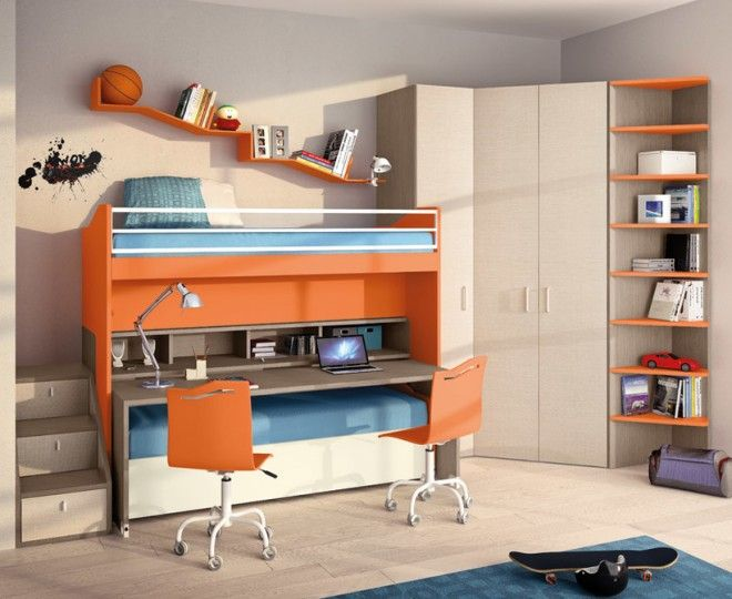 Pretty Double Bunk Bed Contemporary Kids