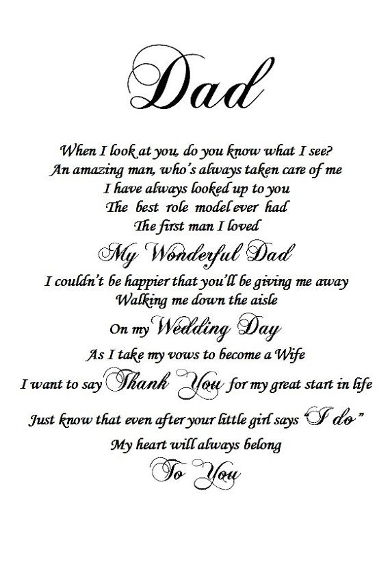 Father of the Bride gift from Daughter, Dad gift, Dad and