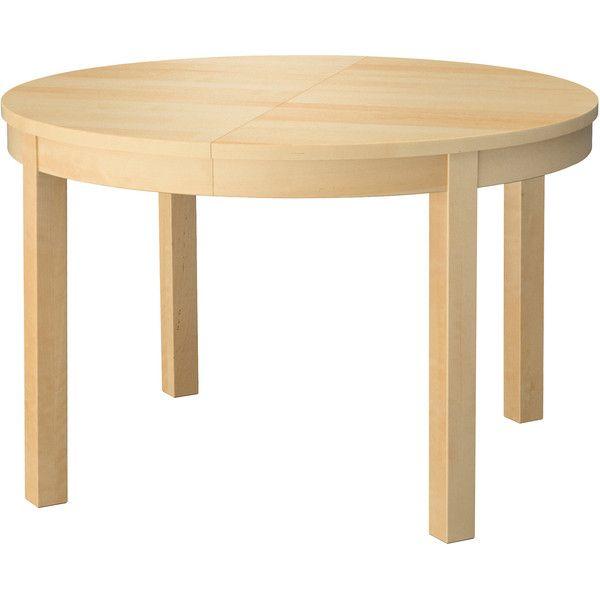 ikea bjursta extendable table birch veneer 229 via polyvore rh pinterest com