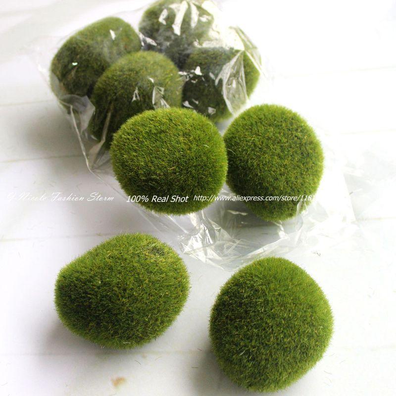 Pas cher gros rustique mousse fra che artificielle plante for Acheter une plante verte