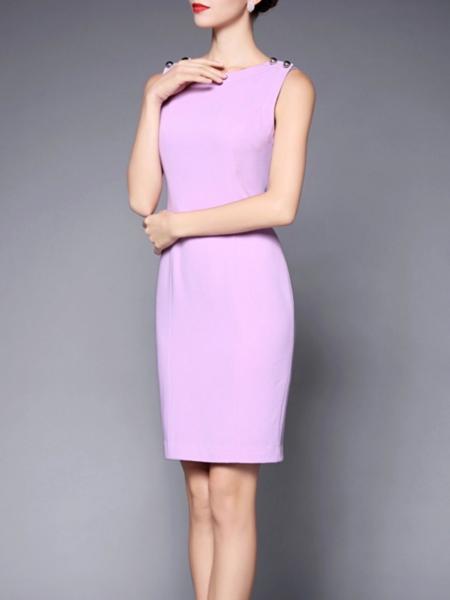 Paneled Polyester Mini dress