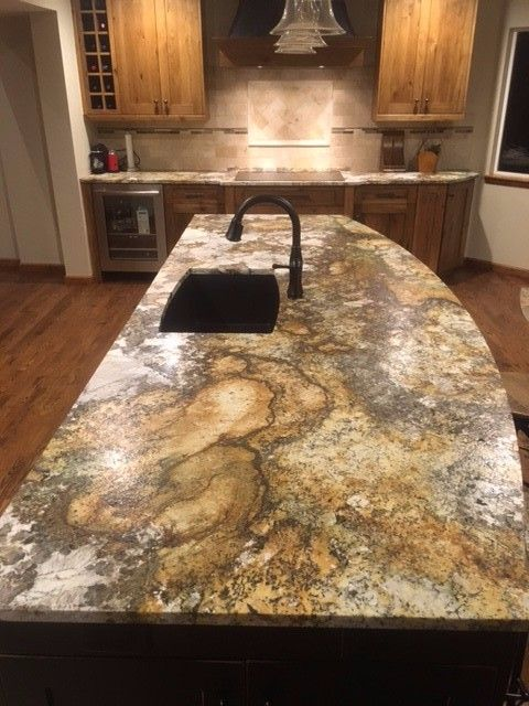 Atlas Leathered Granite 10 foot island My new kitchen