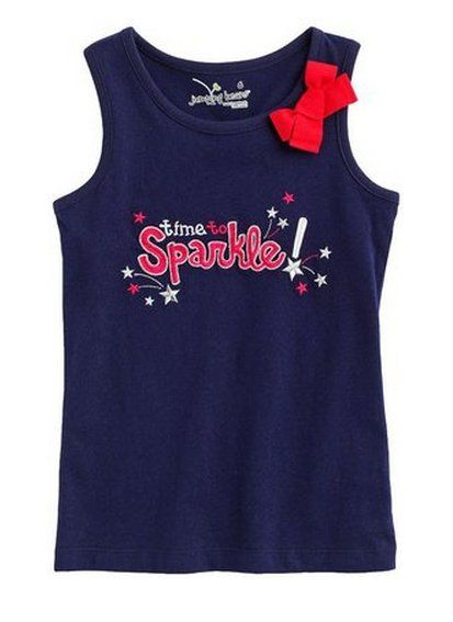 Pin for Later: 99 Ways to Make This Your Best Fourth of July Ever! Wear This: Kohl's Tank How sweet is this Jumping Beans time to sparkle tank ($7, originally $16).