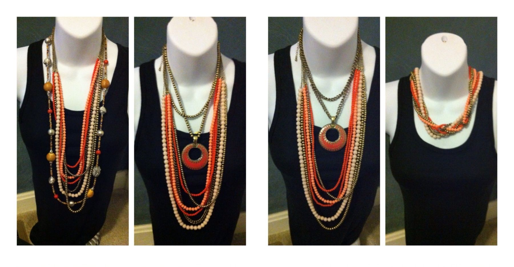 Ways to wear Melon Madness, Papaya and Double Take - Premier Designs Jewelry