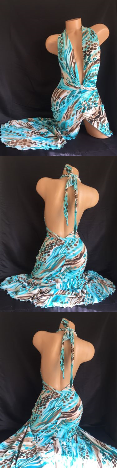 Outfits 152366: Exotic Dancer Stripper Uv Glow Sparkle Plunge Gown ...