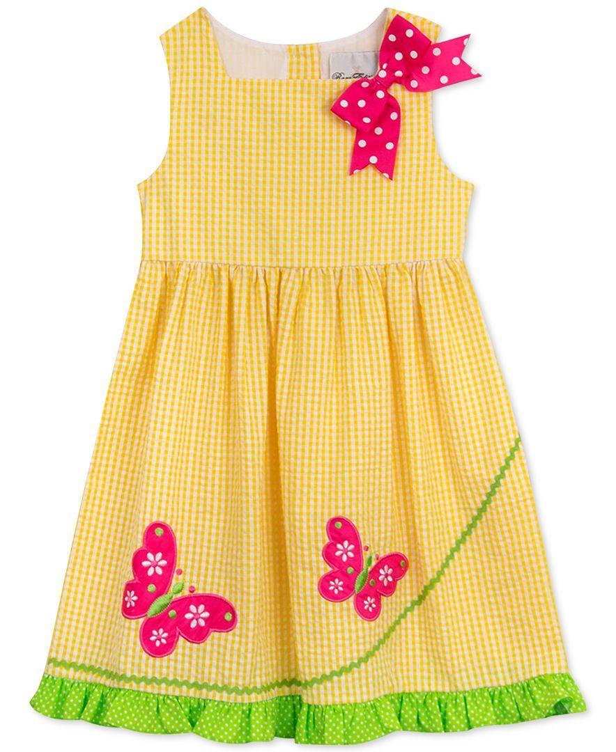 4a5f9155d7ed Rare Editions Little Girls  Yellow Butterfly Sundress