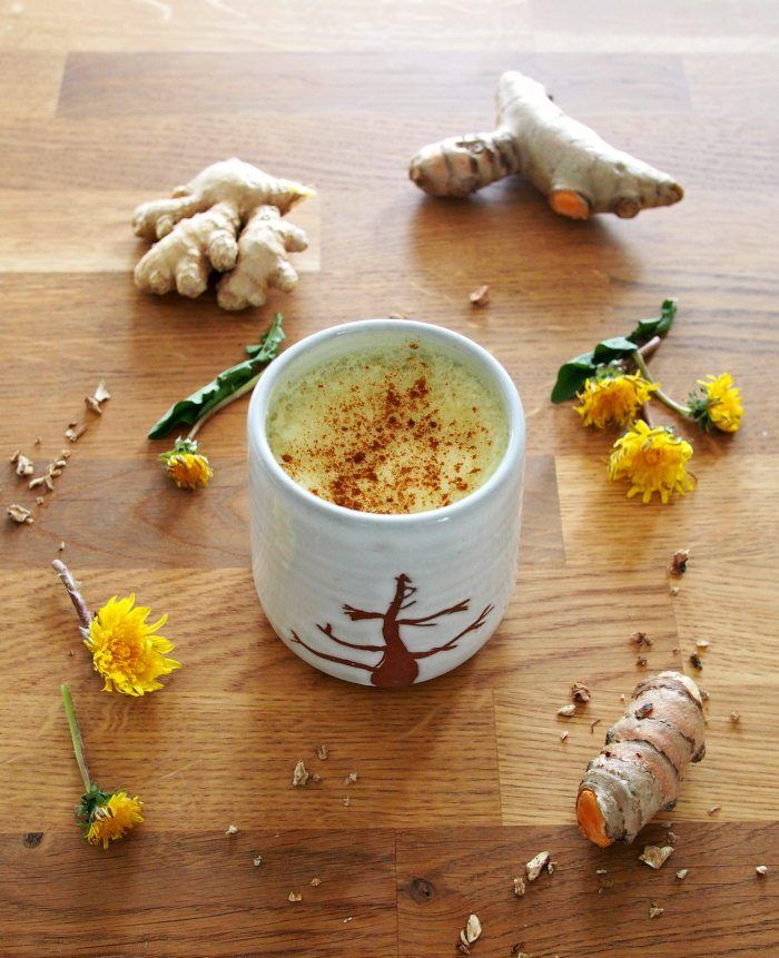Dandelion Root Latte With Turmeric And Ginger