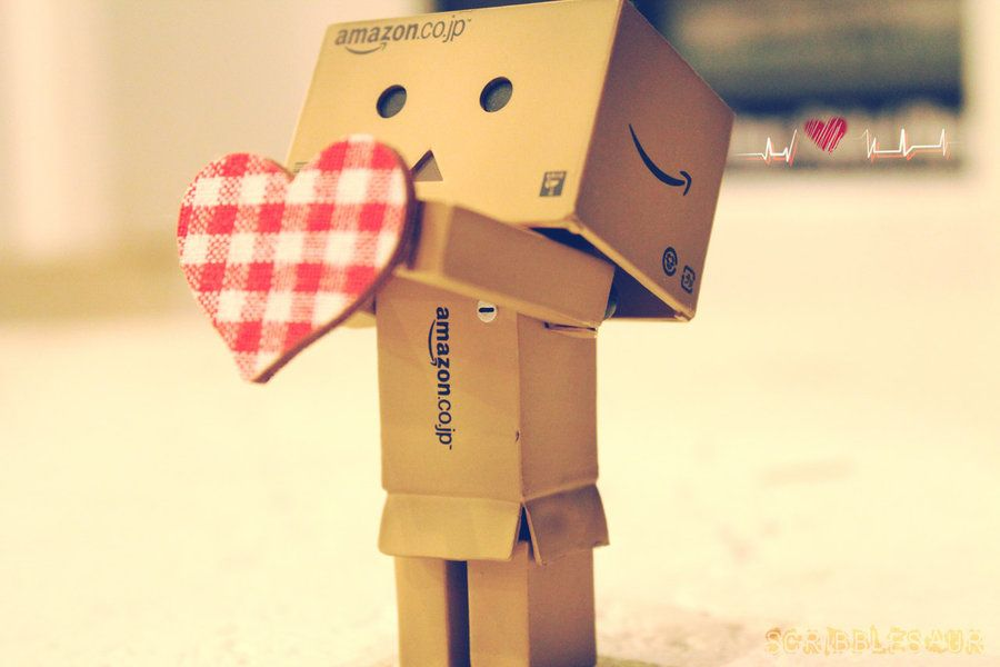 Danbo Gives You His Heart by Scribblesaur.deviantart.com on @deviantART
