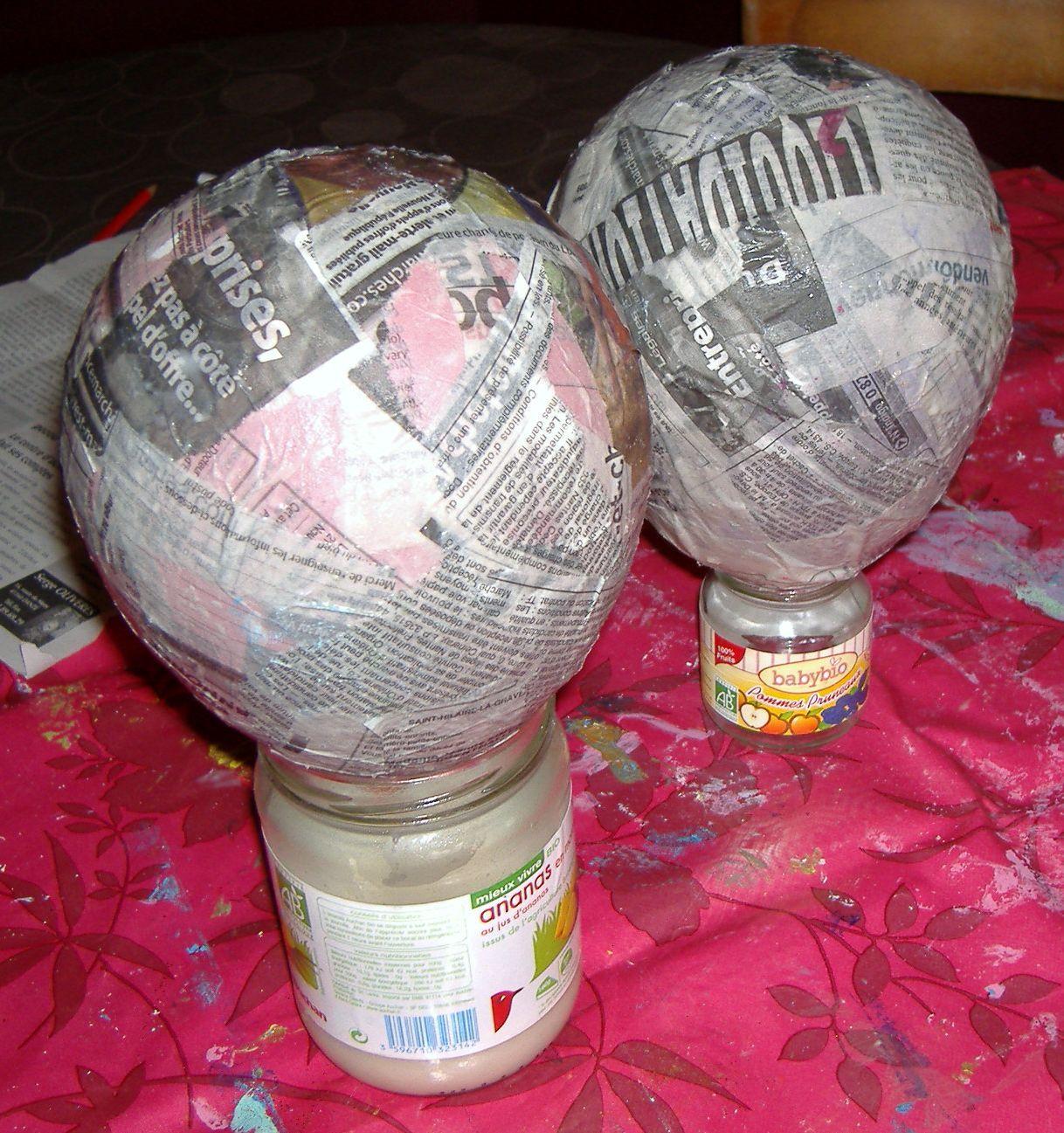Petite montgolfi re en papier m ch 1 collage - Montgolfiere en papier ...