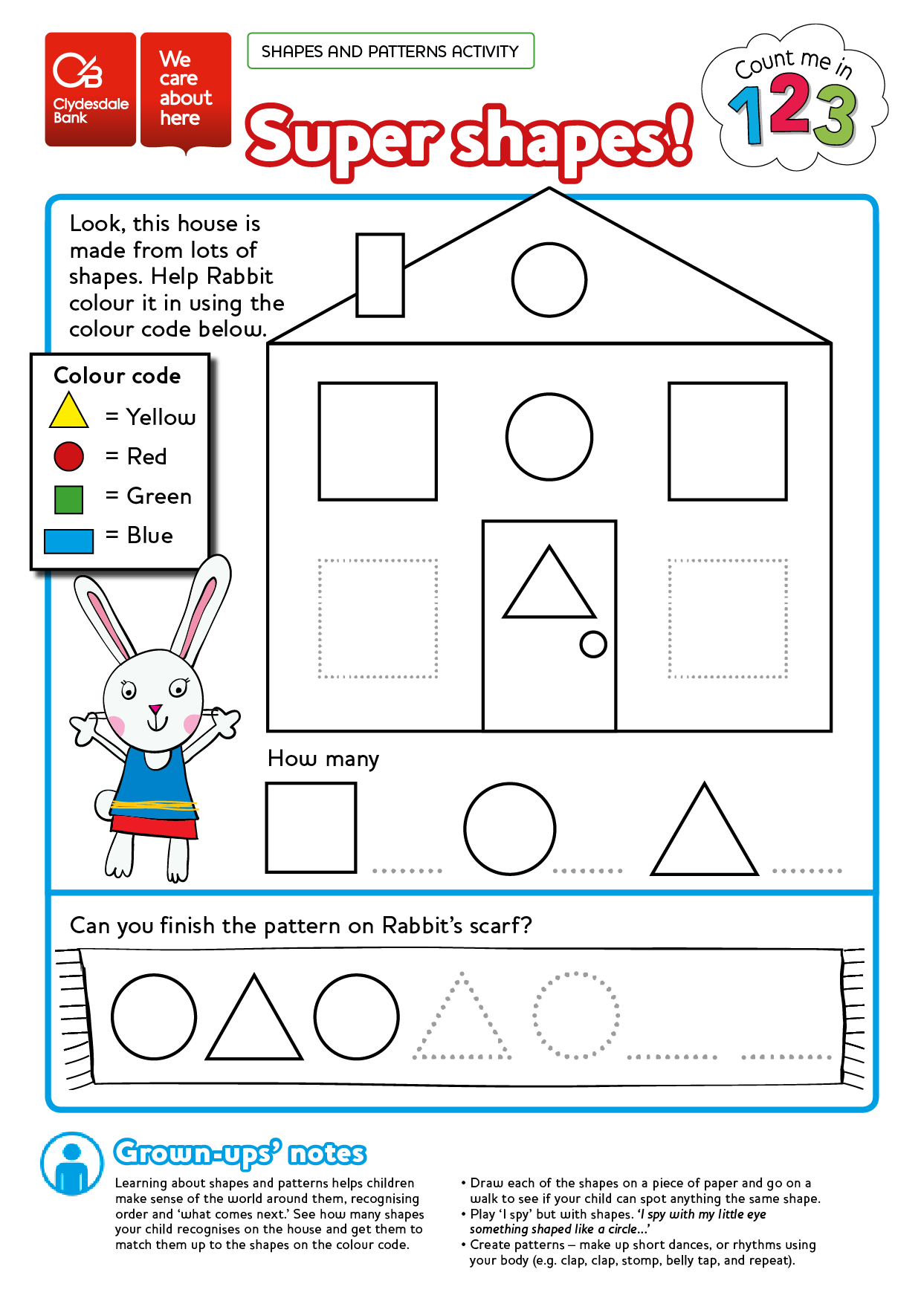 Free numeracy worksheet printable colouring in sheet. Count Me In ...