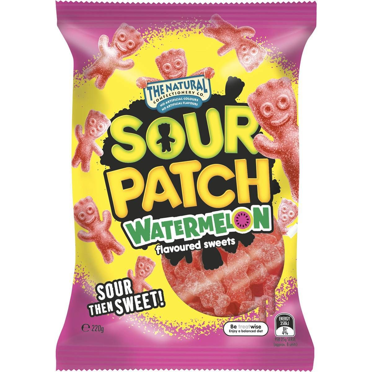 The Natural Confectionery Co Sour Patch Watermelon 220g In 2020 Sour Patch Watermelon Sour Patch Sour Patch Kids