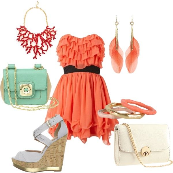 Coral Sea, created by ally2095 on Polyvore
