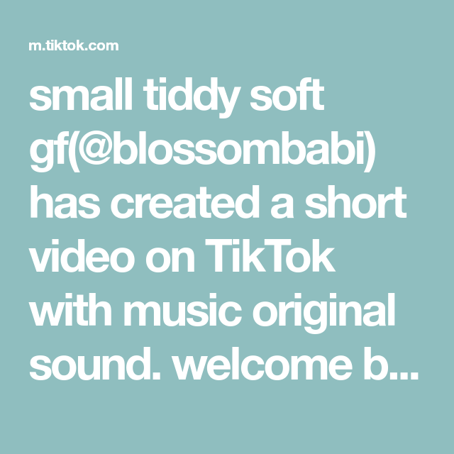 small tiddy soft gf(@blossombabi) has created a short video on TikTok with music original sound. welcome back master! #weeb #softgirl #pastel #anime #kawaii #neko #catgirl #nekogirl #animegirl