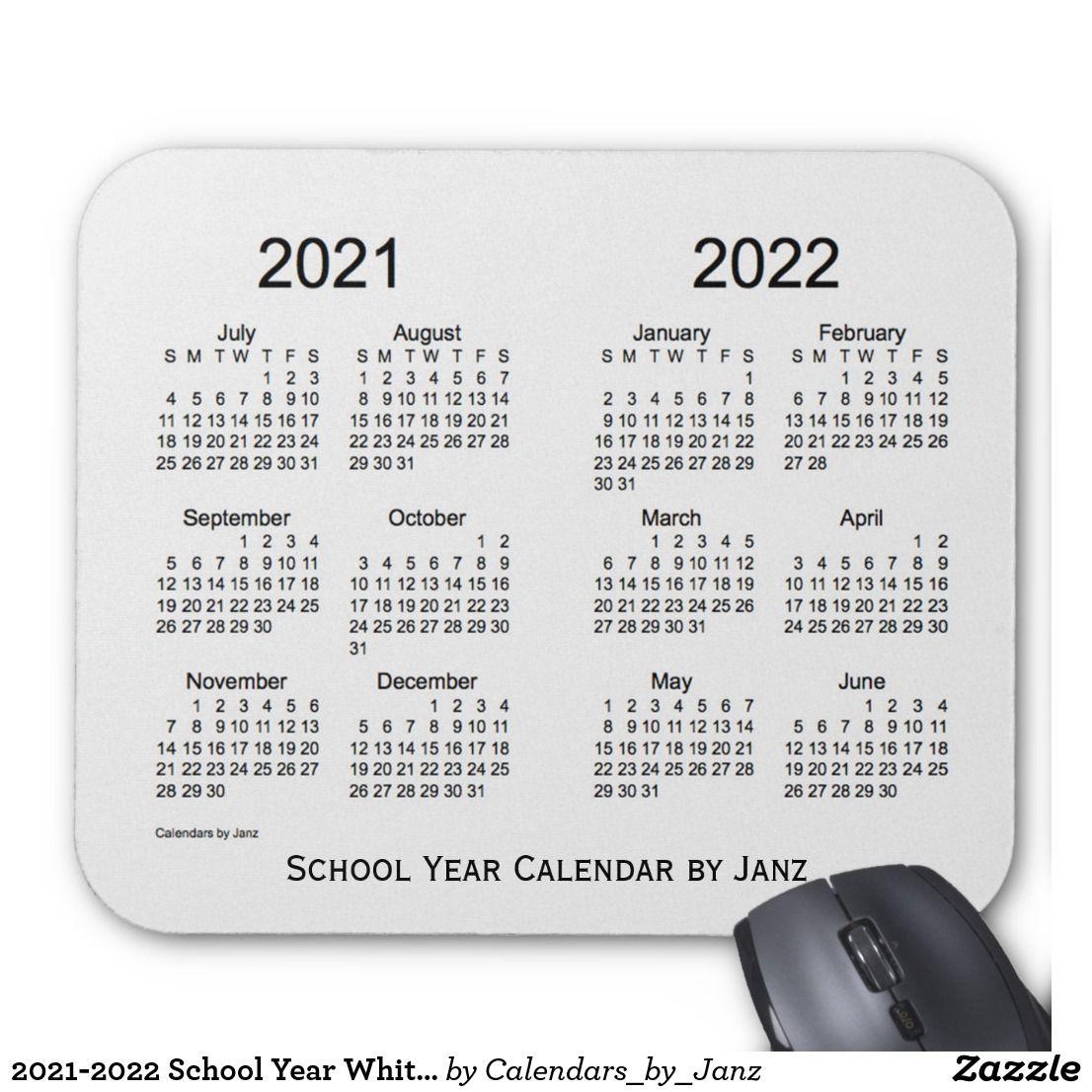 20212022 School Year White Smoke Calendar by Janz Mouse