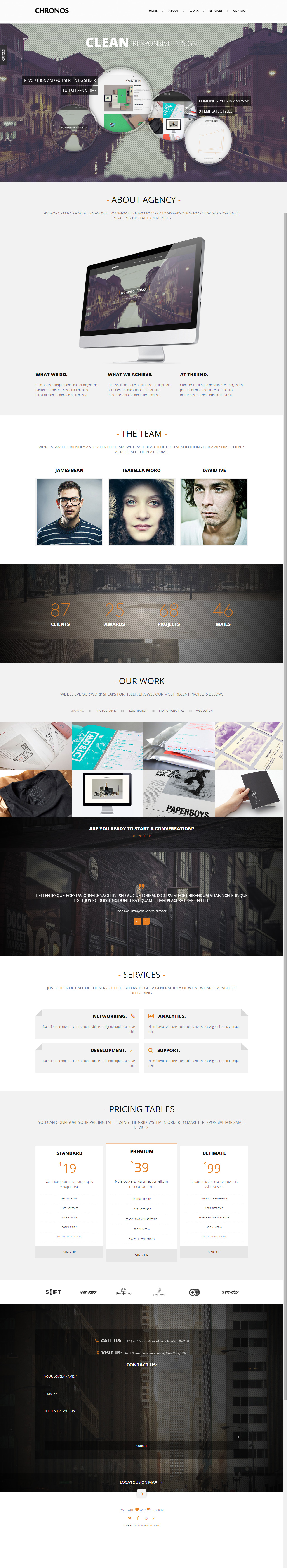 Nonus is Premium Responsive One Page HTML5 Template with Parallax ...