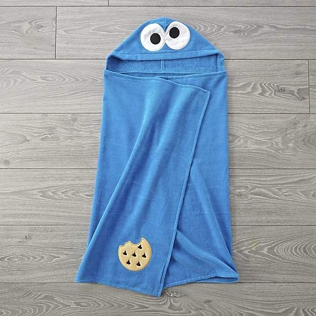 ccf9a7114f3d Sesame Street Cookie Monster Hooded Towel  ad