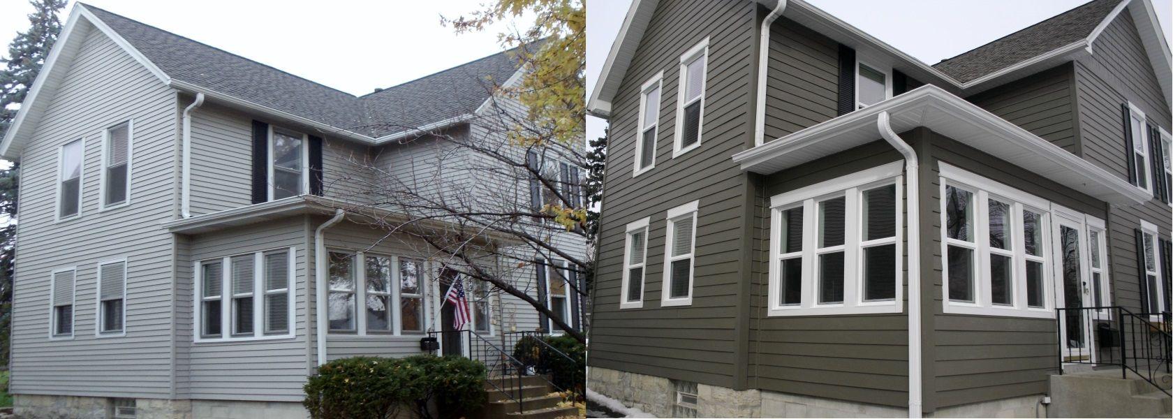 Siding Windows Roofing Contractors Naperville Il Exterior House Siding House Siding Exterior House Colors