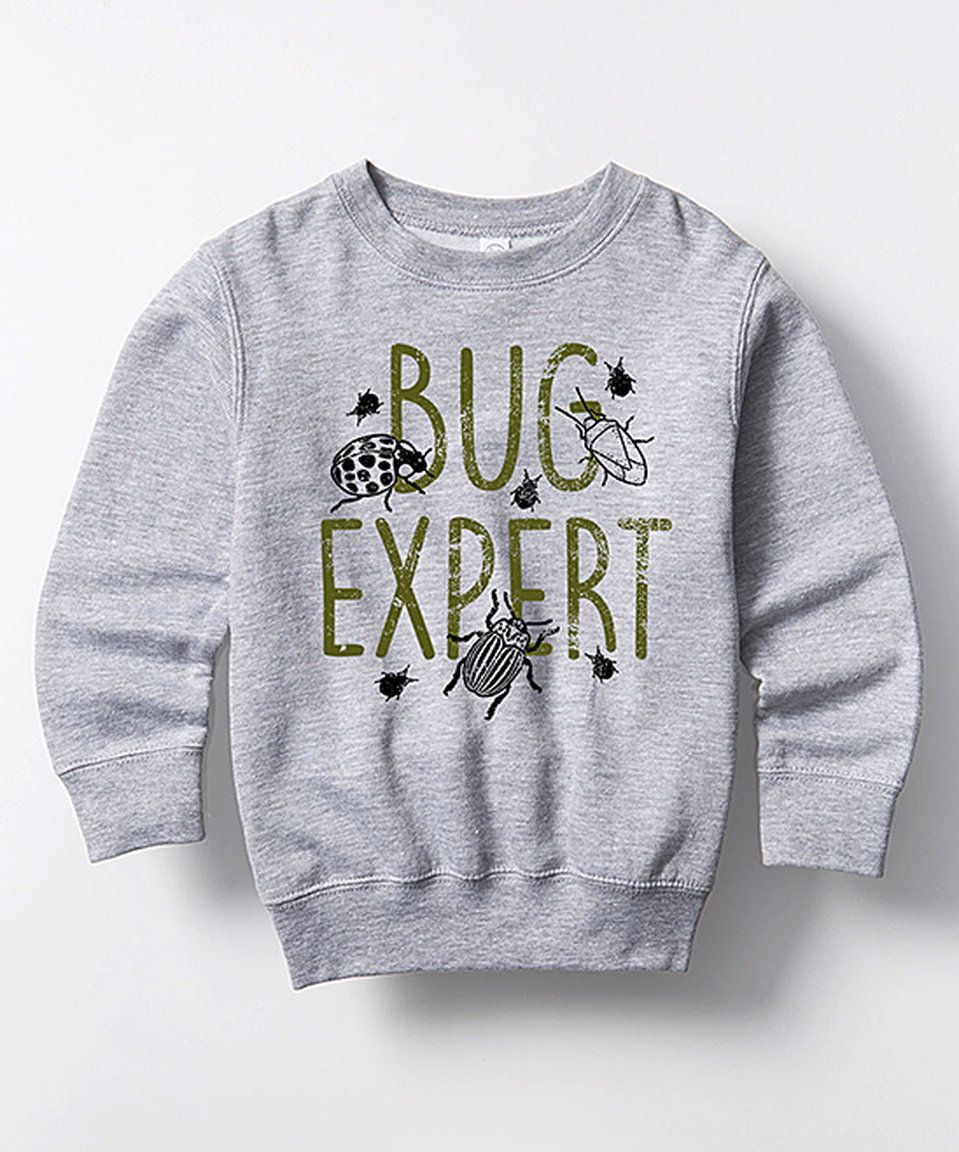 Take a look at this Athletic Heather 'Bug Expert' Crewneck Sweatshirt- Toddler & Kids today!