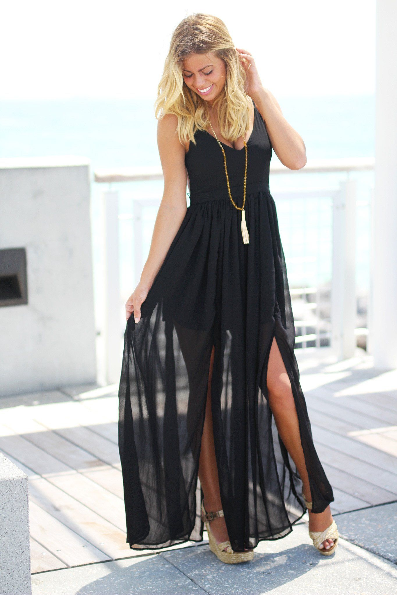Black maxi dress with open back black maxi maxi dresses and