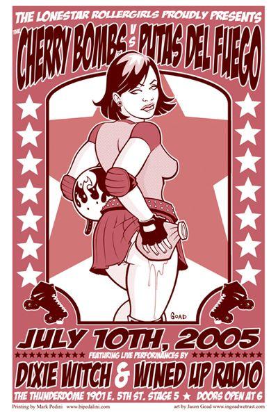 Lone Star Rollergirls Poster