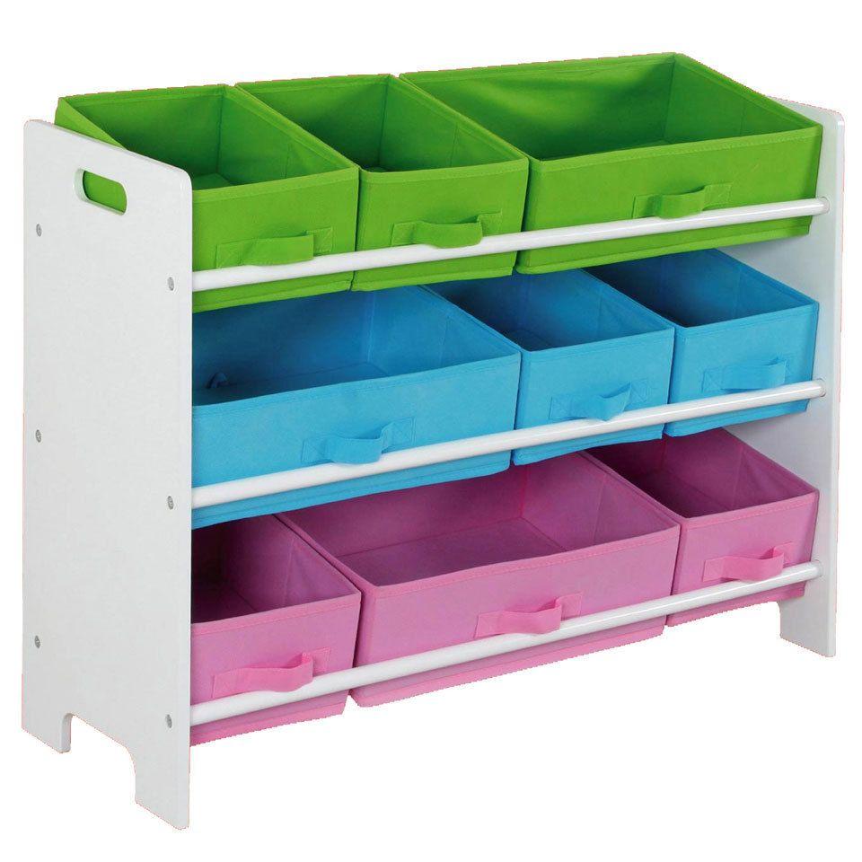 Kids Storage Shelf With Bins