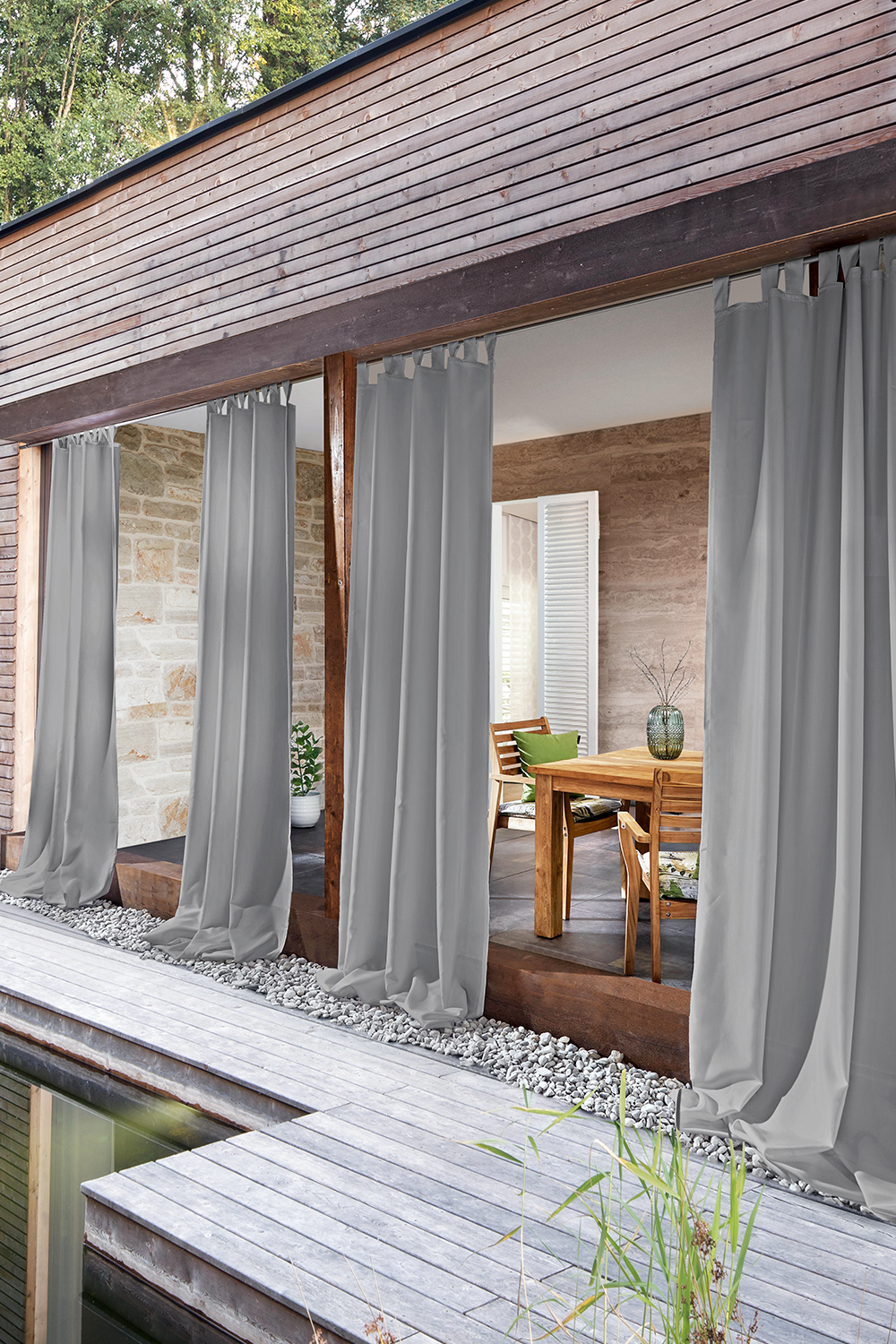 Outdoor Zavjese In 2020 Patio Shade Porch Curtains Outdoor Blinds Patios